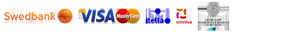 swedbank, visa, mastercard, itella, omniva, chamber of commerce